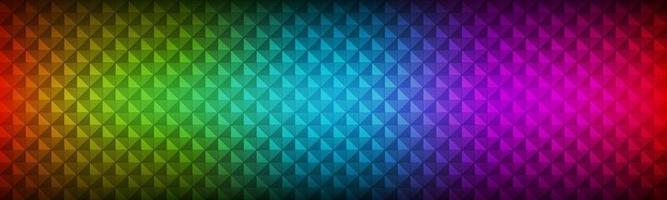 cabeçalho de arco-íris abstrato consistindo de triângulos coloridos com textura geométrica de banner de espectro de vetor moderno de transparência diferente