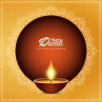 Fundo decorativo religioso feliz de Diwali feliz vetor