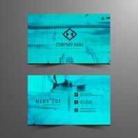 Design de cartão de visita abstrato moderno azul vetor