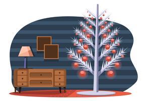 Árvore de Natal do meio do século vetor