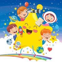 projeto de conceito com crianças engraçadas vetor