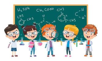 crianças estudando em sala de aula vetor