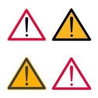 atenção vermelha marca de exclusão símbolo de sinal de perigo ou adesivo isolado na ilustração vetorial de fundo branco vetor