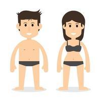 corpo humano homem e mulher vetor