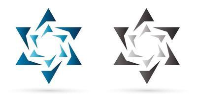 estrela de israel moderna vetor