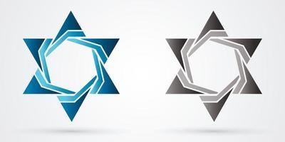 estrela de israel de luxo vetor
