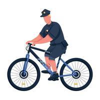policial cor lisa vetor personagem sem rosto