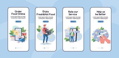modelo de vetor plano de tela de aplicativo móvel para compras on-line