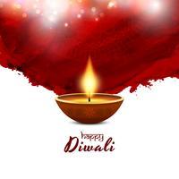Fundo vermelho feliz Diwali feliz vetor