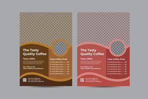 modelo de cartaz de panfleto de cafeteria vetor