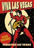 Cartaz da música de Las Vegas vetor