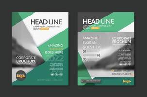 modelo de design moderno com design de fundo abstrato para negócios corporativos relatório anual capa de livro folheto panfleto poster vetor