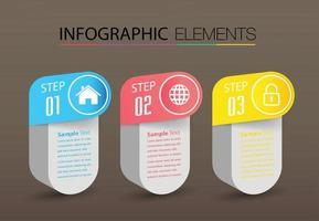 infográficos modernos de banner de modelo de caixa de texto vetor