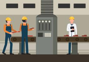 Ilustração de trabalhadores de fábrica vetor