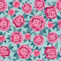 padrão floral sem costura abstrato ornamental artístico desenhado fundo com flores e folhas motivo de florescer para design de decoração de tecido têxtil vetor