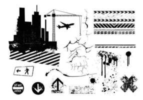 Pacote vetorial da cidade urbana