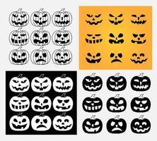 um conjunto de halloween assustador vetor