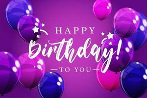 feliz aniversário, parabéns banner design para fundo de feriado de festa vetor