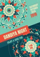 Noite Dandiya vetor