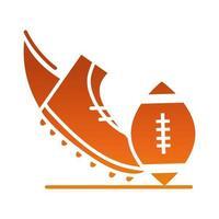 Ícone de design gradiente recreativo e profissional de futebol americano e esporte vetor