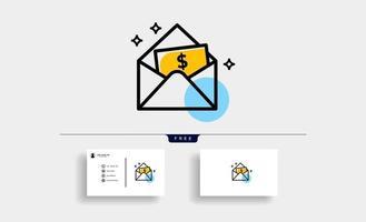ícone de vetor de dinheiro, dinheiro e carteira