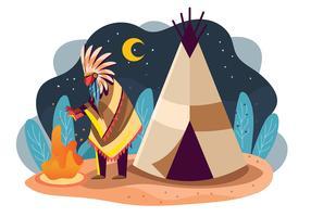 Povo indígena vetor