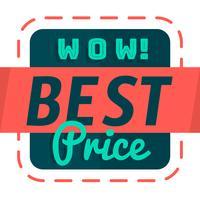 Melhor preço vetor