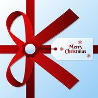 Cartões de etiquetas de venda de Natal com arcos vermelhos vetor