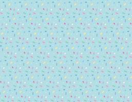 pontos bonitos como doces aparecem repetidamente no fundo azul celeste. vetor
