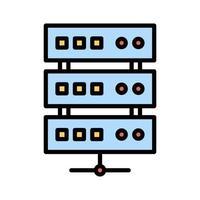 ícone de armazenamento de banco de dados vetor