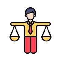 ícone de equilíbrio do projeto vetor