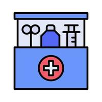 ícone da caixa de primeiros socorros vetor