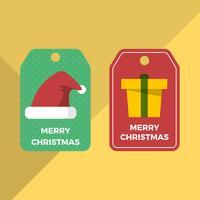 Molde liso do vetor das etiquetas do presente de época natalícia do Natal
