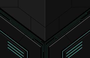 3d realista dark techno background ilustração abstrata forma geométrica moderna futurista vetor