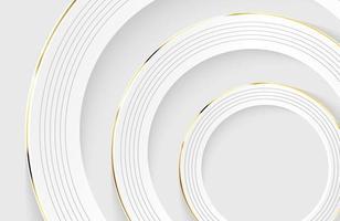papel moderno, minimalista e limpo, fundo cortado com forma de círculo realista vetor