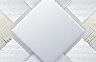 fundo branco moderno com elemento geométrico dourado brilhante vetor
