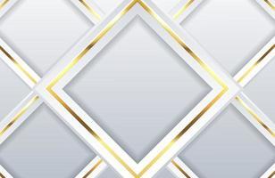 fundo branco moderno com elemento geométrico dourado brilhante abstrato claro fundo prata limpo vetor