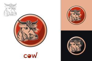 vetor do logotipo da vaca