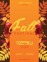 Design de vetor de outono Fest Flyer