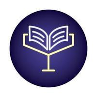 ícone de estilo de luz de néon do livro sagrado vetor