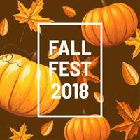 Vetor de fundo de outono fest