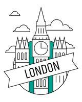 Cartaz de Londres vetor