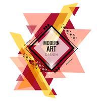 Design de forma moderna triângulo colorido