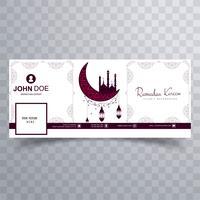 Bela Ramadan Kareem facebook timeline design da capa vetor