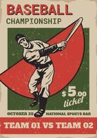 Flyer de conceito de parque de beisebol vetor
