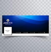 Bandeira de timeline do facebook onda azul moderno vetor