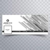 Belo design de banner timeline do facebook vetor