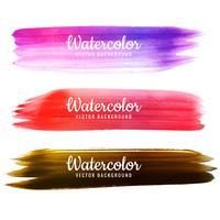 Mão colorido moderno desenhar conjunto de design de traçado de aquarela vetor