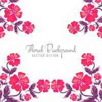 Fundo floral colorido decorativo moderno vetor