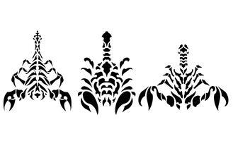 Pacote de vetores de tatuagem de escorpião